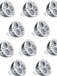 cheap -10pcs 6W MR16 LED Spotlight MR16 3 High Power LED 600lm Warm White Cold White Decorative DC12V 10pcs