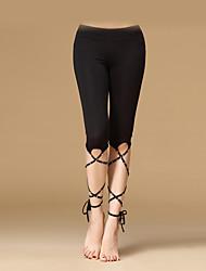 abordables -Danza del Vientre Mujer Entrenamiento Fibra de Leche Cristales / Rhinestones Cintura Baja Pantalones