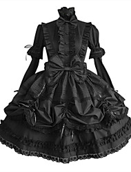 cheap -Gothic Lolita Dress Princess Punk Women's One Piece Dress Cosplay Black Puff/Balloon Long Sleeves