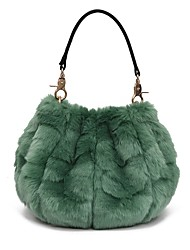 cheap -Women Bags Fur Shoulder Bag Zipper for Casual Outdoor All Seasons Military Green Dark Blue Gray Purple Sky Blue
