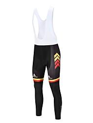 baratos -Miloto Homens Bretelle com Calça Moto Tights Bib Lycra Branco / Preto Roupa de Ciclismo / Com Stretch