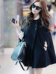 economico -Cappotto Da donna Per uscire Casual Moda città Autunno Inverno,Tinta unita Rotonda Nylon Standard Senza maniche