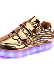 cheap -Boys' Shoes PU Spring Fall Light Up Shoes Comfort Novelty Sneakers Magic Tape LED For Casual Outdoor Blushing Pink Silver Gold