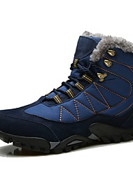 cheap -Men's Shoes Suede Winter Fluff Lining Comfort Snow Boots Boots Hiking Shoes Mid-Calf Boots Lace-up For Casual Outdoor Khaki Blue Black