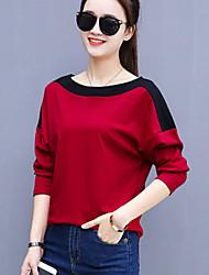 cheap -Women's Plus Size Daily Street chic Fall Winter T-shirt