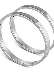 cheap -Men's / Women's Bangles - Stainless Steel Love Bracelet Gold / Silver For Wedding / Engagement