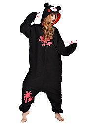 cheap -Kigurumi Pajamas Bear Raccoon Gloomy Bear Onesie Pajamas Costume Polar Fleece Black Cosplay For Adults' Animal Sleepwear Cartoon Halloween