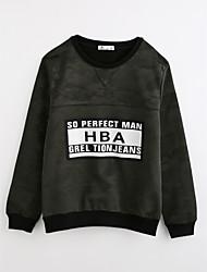 cheap -Boys' Print Blouse,Cotton Fall Long Sleeve Dark Gray
