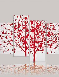 Недорогие -Роликовые холсты Абстракция холст Горизонтальная С картинкой Декор стены Украшение дома