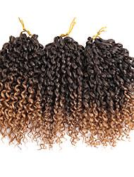 economico -Treccine a boccoli Treccia colorata schiarita Capelli 100% Kanekalon 3pcs / pack Ricci intrecciati Trecce di capelli