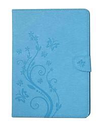 Недорогие -Кейс для Назначение SSamsung Galaxy Чехол планшетный случаи Бабочка Цветы Твердый Кожа PU для Tab 4 10.1