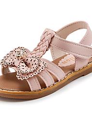 preiswerte -Mädchen Schuhe Kunstleder Sommer Komfort Sandalen Für Normal Schwarz Beige Rosa