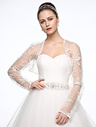 cheap -Tulle Wedding / Party / Evening Women's Wrap With Embroidery Shrugs