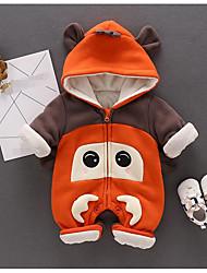 baratos -bebê Peça Única Animal Inverno Outono 100% Algodão Marron Laranja