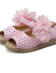 Girls' Shoes Leatherette Summer Comfort Flower Girl Shoes Sandals Gore Flower For Party & Evening Dress Blushing Pink