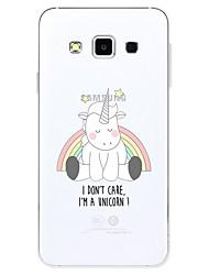 economico -Custodia Per Samsung Galaxy Fantasia/disegno Custodia posteriore Unicorno Cartoni animati Morbido TPU per A3 (2017) A5 (2017) A7 (2017)