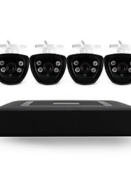 4ch 5-en-1 dvr kits 4pcs ir nuit vision balle cctv caméra système de sécurité
