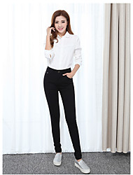 cheap -Women's High Rise Micro-elastic Skinny Slim Jeans Pants,Casual Solid Others Fall