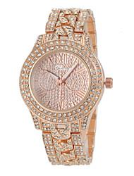 abordables -Mujer Cuarzo Reloj de Cristal Pavé Simulado Diamante Reloj Gran venta Aleación Banda Encanto Moda Plata Dorado Oro Rosa
