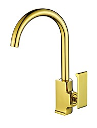 cheap -Contemporary Luxury Centerset High Quality Ceramic Valve Ti-PVD, Kitchen faucet