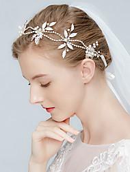 Imitation Pearl Alloy Tiaras Headbands Headpiece