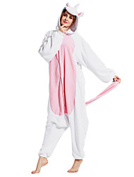 Kigurumi Pajamas Unicorn Costume Pink Polar Fleece Kigurumi Leotard / Onesie Cosplay Festival / Holiday Animal Sleepwear Halloween