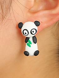 Недорогие -Жен. Серьги-гвоздики Животный дизайн обожаемый Китай Сплав Панда Животный принт Бижутерия Черно-белый Повседневные Бижутерия