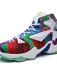 Homme Chaussures Tissu Automne Confort Chaussures d'Athlétisme Basketball Lacet Pour Athlétique Bleu Noir/Rouge Blanc et vert