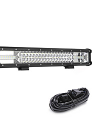 cheap -270W 27000LM 6000K 3-Rows LED Work Light Cool White Combo Offroad Driving Light for Car/Boat/Headlight IP68 9-32V  3m 1-To-1 Wiring Harness Kit