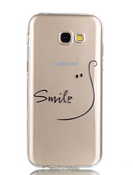 cheap -For Case Cover Transparent Pattern Back Cover Case Word / Phrase Soft TPU for Samsung Galaxy A3(2017) A5(2017)