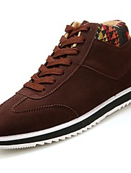 cheap -Men's Shoes Nubuck leather Spring Fall Comfort Sneakers Lace-up For Outdoor Blue Brown Black