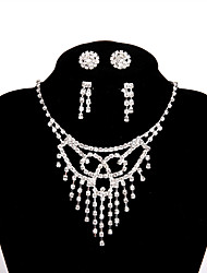 cheap -Women's Basic Chain Necklace Rhinestone Alloy Chain Necklace , Wedding Party Engagement