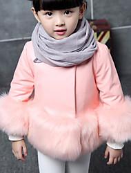 economico -Giubbino e cappotto Da ragazza Pelliccia sintetica PU (Poliuretano) Tipi di pellicce speciali Tinta unita Inverno Manica lunga
