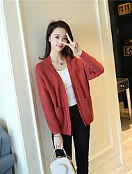 preiswerte -Damen Kunst-Pelz Langarm Pullover-Solide