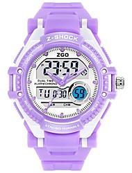 Жен. Модные часы электронные часы Цифровой Pезина Группа Белый Розовый Фиолетовый