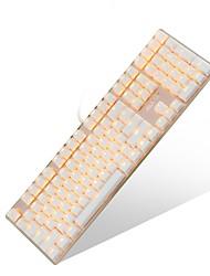 Недорогие -AJAZZ JC Проводное Монохромный подсветка Черные выключатели 108 Механическая клавиатура Подсветка