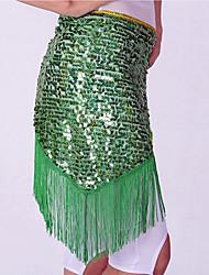 Danza del ventre Cintura per danza del ventre Per donna Esibizione Poliestere Lustrini Nappa Cintura