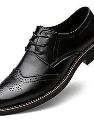 Homme Chaussures Cuir Nappa Automne Hiver Confort Oxfords Lacet Pour Décontracté Soirée & Evénement Noir Marron