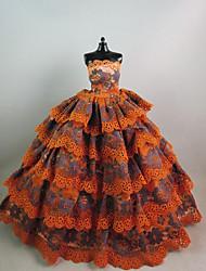 Недорогие -Вечеринка Платья Для Barbiedoll Гиацинт + серый Платье Для Девичий игрушки куклы