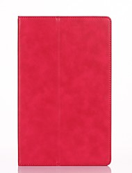 para capa de capa porta-carteira com suporte flip auto dormir / acordar corpo completo couro sólido couro duro para huawei fdr-a01w / a03l
