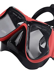 abordables -Masque de Nage / Masque de Snorkeling Professionnel Plongée, Natation Silicone - pour Adultes Rouge / Bleu / Rose