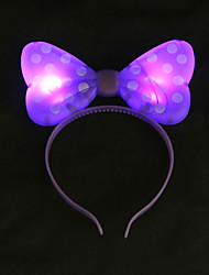 cheap -1PC Glow LED Bow Headband for Bar Evening Party& Children's Day Gifts Ramdon Color