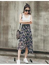 abordables -Mujer Moderno Corte Sirena Faldas - Estampado, Floral