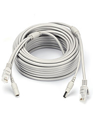 economico -Cavi 66ft Ethernet Cable RJ45 & DC Power CAT5/CAT-5e Extension CCTV Cable Line per Sicurezza sistemi 2000cm 1kg