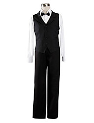 cheap -Inspired by DuRaRaRa Shizuo Heiwajima Anime Cosplay Costumes Cosplay Suits Solid Long Sleeves Vest Shirt Pants Bow For Men's