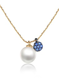 Women's Pendant Necklaces Cubic Zirconia Pearl Zircon Personalized Adorable Jewelry For Birthday Daily