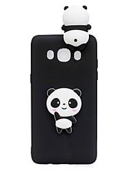 preiswerte -Hülle Für Samsung Galaxy J5 (2017) J3 (2017) Muster Heimwerken Rückseite Panda 3D Zeichentrick Weich TPU für J7 (2017) J7 (2016) J5
