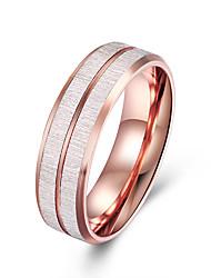 preiswerte -Herrn Edelstahl Bandring - Kreisform Grundlegend Modisch Rotgold Ring Für Party Verlobung Alltag Normal Büro & Karriere