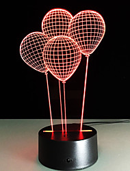 cheap -1 Set, Home Bedroom Acrylic 3D Night Light LED Lamp USB Mood Lamp, Available Battery, Colorful, 3W, Balloon