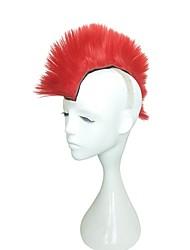 preiswerte -Kinky Glatt Asymmetrischer Haarschnitt Stufenhaarschnitt Einfach zu tragen Klassisch Rot Damen Kappenlos Fan Perücke Halloween Perücke